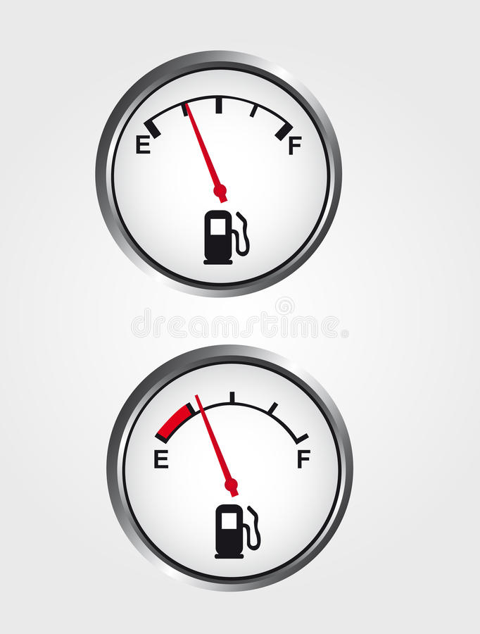 Μετρητής αερίου ταμπλό ελεύθερη απεικόνιση δικαιώματος