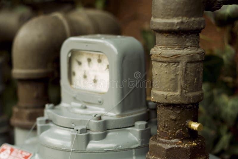 μετρητής αερίου φυσικός στοκ φωτογραφία με δικαίωμα ελεύθερης χρήσης