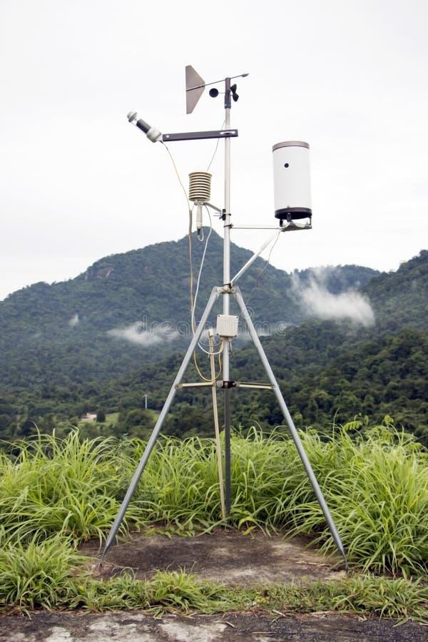 Μετρητής βροχής που χρησιμοποιείται στο φράγμα στοκ φωτογραφίες