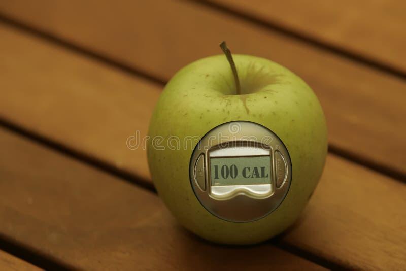 μετρητής θερμίδας μήλων στοκ εικόνα με δικαίωμα ελεύθερης χρήσης