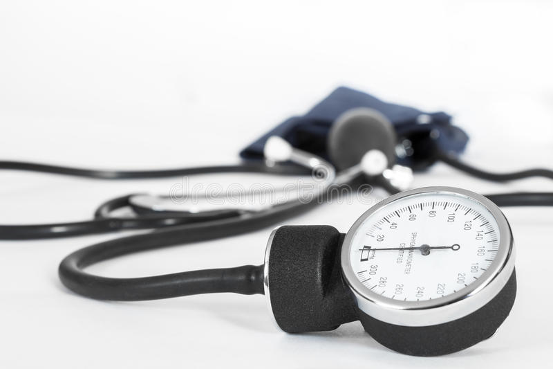 Μετρητής πίεσης του αίματος στοκ εικόνα με δικαίωμα ελεύθερης χρήσης