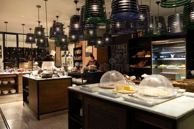 Μετρητής προγευμάτων στο ξενοδοχείο Penta στο Πεκίνο στοκ εικόνες με δικαίωμα ελεύθερης χρήσης