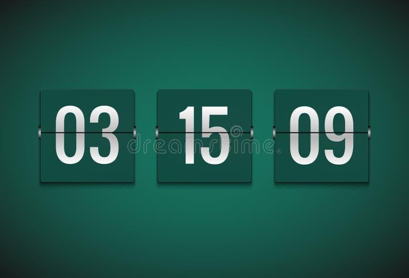 Μετρητής ρολογιών χρονομέτρων αντίστροφης μέτρησης Διανυσματικό πρότυπο χρονομέτρων κτυπήματος Πληροφορίες επίδειξης του λεπτού,  διανυσματική απεικόνιση