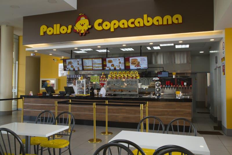 Μετρητής στο εστιατόριο Pollos Copacabana γρήγορου φαγητού στοκ φωτογραφία με δικαίωμα ελεύθερης χρήσης