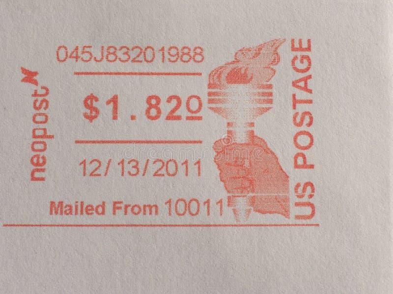 μετρητής ταχυδρομικών τελών ταχυδρομείου στη Νέα Υόρκη στοκ εικόνες