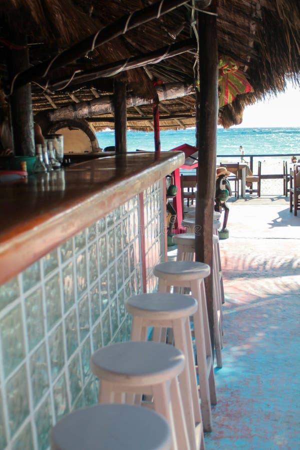 Μετρητής φραγμών ενός φραγμού παραλιών στην καραϊβική ακτή, Μεξικό στοκ φωτογραφίες με δικαίωμα ελεύθερης χρήσης