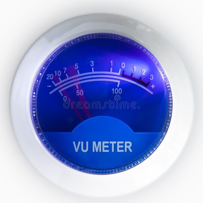 μετρητής VU στοκ φωτογραφία