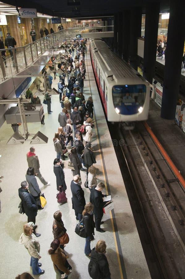 μετρό Πολωνία Βαρσοβία στοκ εικόνες