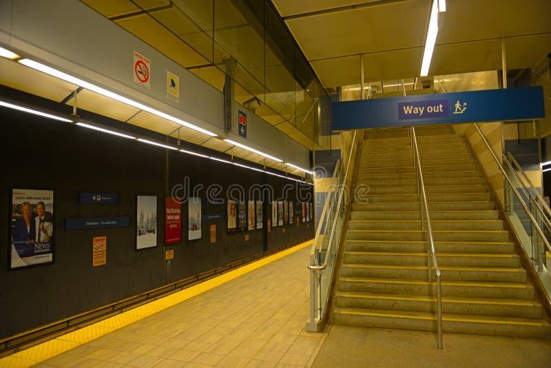 Μετρό του Βανκούβερ, Βανκούβερ, Π.Χ., Καναδάς στοκ φωτογραφία με δικαίωμα ελεύθερης χρήσης