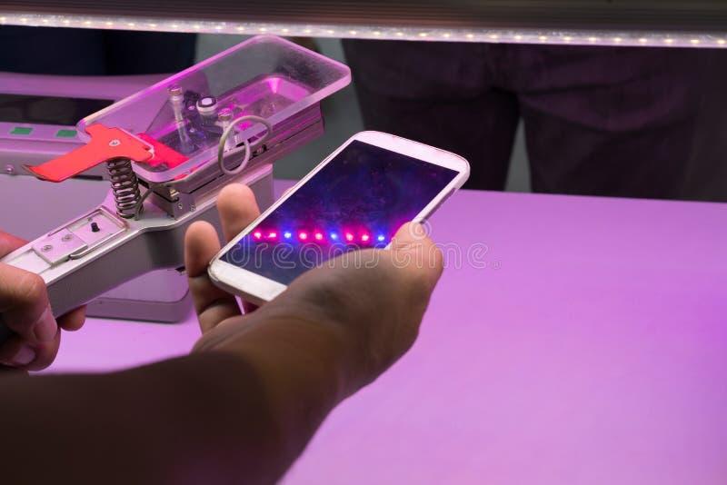 μετρώντας συσκευή του CO2 για τη φωτοσύνθεση του growi εγκαταστάσεων στοκ εικόνα