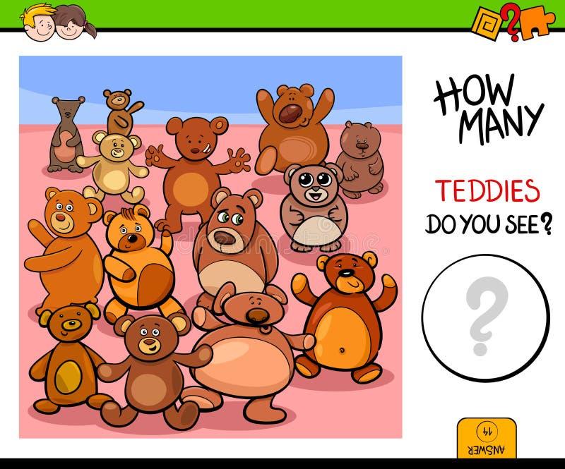 Μετρώντας teddy εκπαιδευτικό παιχνίδι αρκούδων απεικόνιση αποθεμάτων