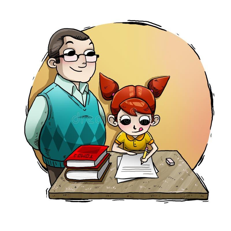 Μελέτη κοριτσιών απεικόνιση αποθεμάτων