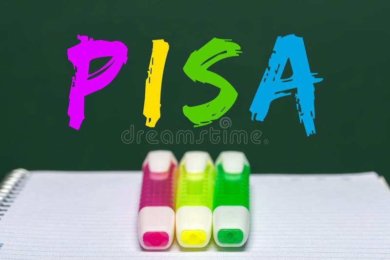 Μελέτη της Πίζας γραπτή εν πλω στοκ φωτογραφίες με δικαίωμα ελεύθερης χρήσης