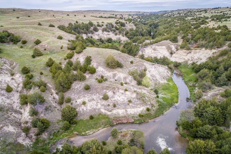 Μελαγχολικός ποταμός στους λόφους άμμου της Νεμπράσκας στοκ φωτογραφία με δικαίωμα ελεύθερης χρήσης