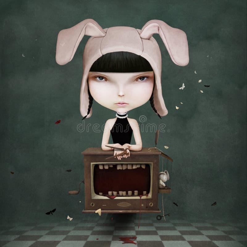 μελαχροινό κορίτσι ελεύθερη απεικόνιση δικαιώματος
