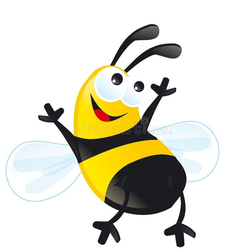 Μελισσών noney κίτρινος Μαύρος λωρίδων χαμόγελου ο ευτυχής στοκ εικόνες