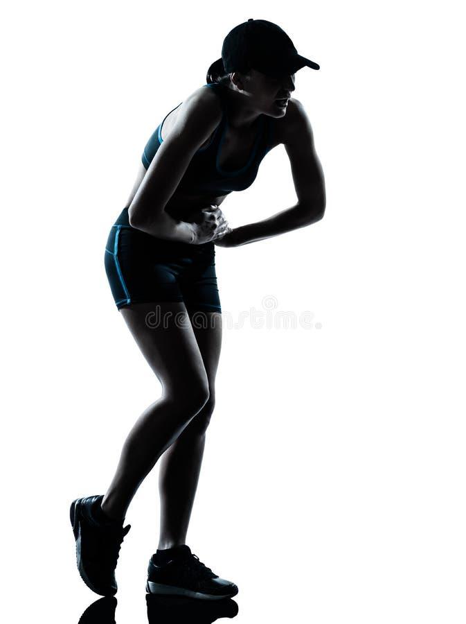 με κομμένη την ανάσα κουρασμένη δρομέας γυναίκα jogger στοκ φωτογραφία με δικαίωμα ελεύθερης χρήσης