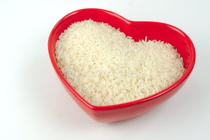 Με μορφή νιπτήρα καρδιά ρυζιού στοκ εικόνα με δικαίωμα ελεύθερης χρήσης