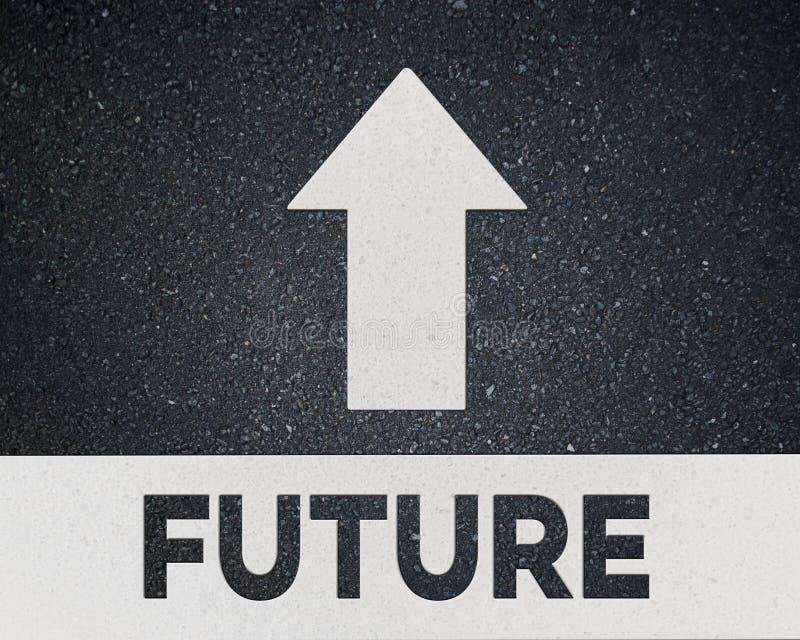 μελλοντικός δρόμος στοκ εικόνα