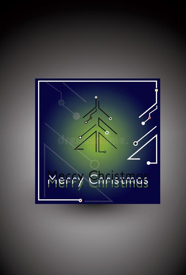 Μελλοντικό νεω μπλε δέντρων Χριστουγέννων απεικόνιση αποθεμάτων