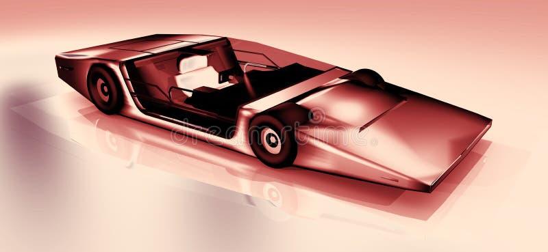 Μελλοντικό σπορ αυτοκίνητο απεικόνιση αποθεμάτων