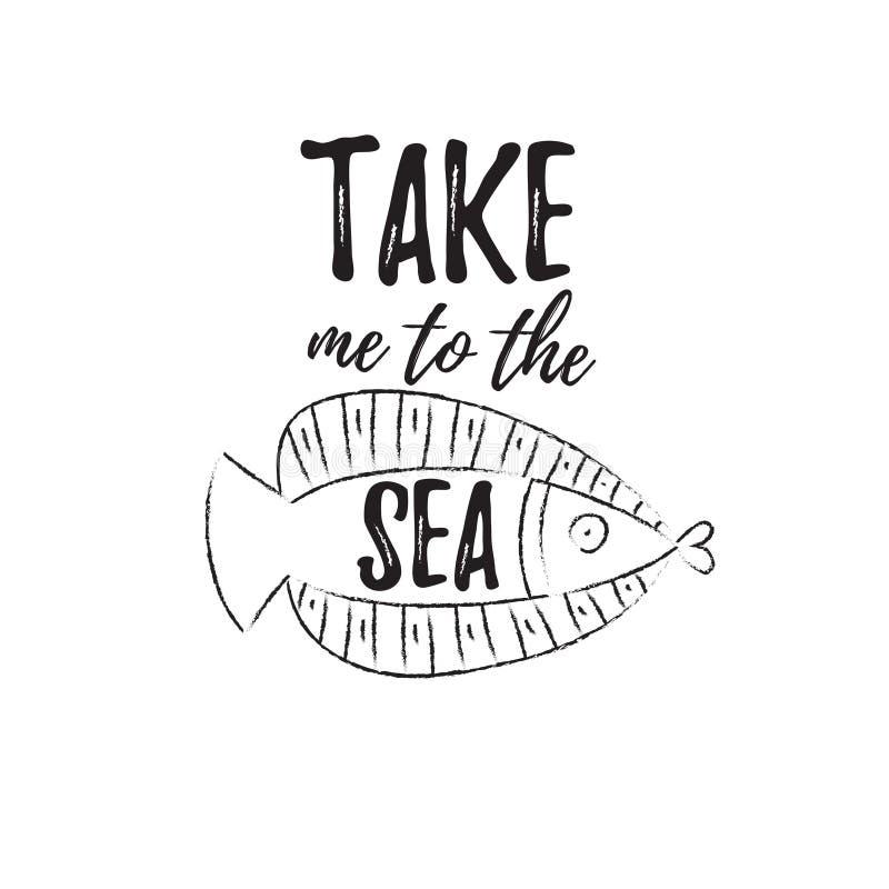 Με πάρτε στη θάλασσα απεικόνιση αποθεμάτων