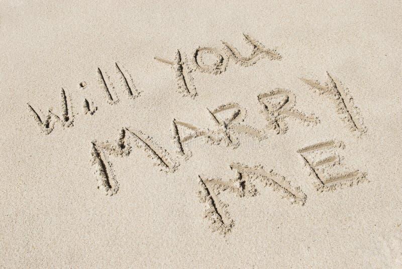 με παντρεψτε άμμος γραπτό&sigma στοκ εικόνες με δικαίωμα ελεύθερης χρήσης