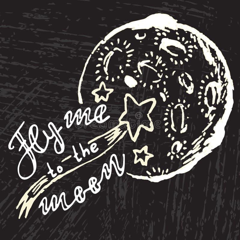 με πετάξτε φεγγάρι διανυσματική απεικόνιση