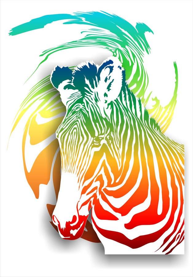 Με ραβδώσεις σε ένα αφηρημένο υπόβαθρο (χρώμα). (Διάνυσμα)  διανυσματική απεικόνιση