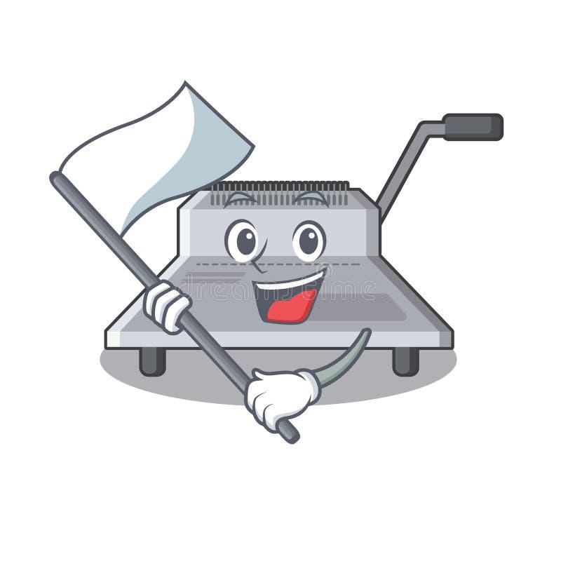 Με τη δεσμευτική μηχανή α σημαιών στο χαρακτήρα απεικόνιση αποθεμάτων