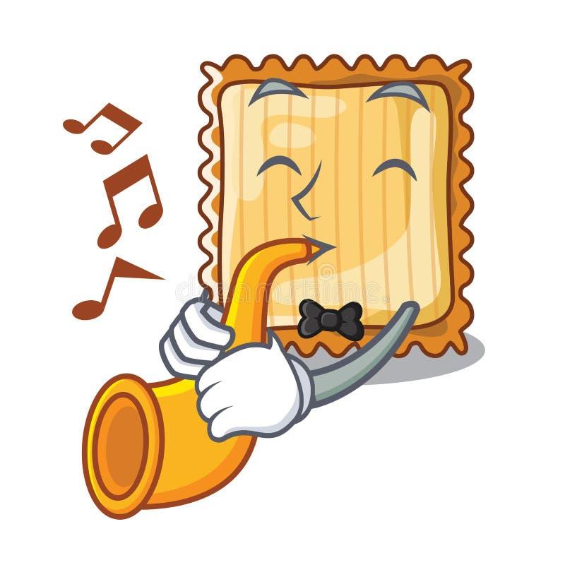 Με τη σάλπιγγα lasagne είναι μαγειρευμένος στο φούρνο μασκότ ελεύθερη απεικόνιση δικαιώματος