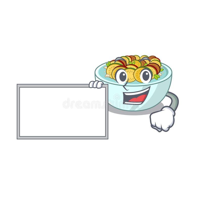 Με τον πίνακα ratatouille είναι μαγειρευμένος στο τηγάνι μασκότ ελεύθερη απεικόνιση δικαιώματος