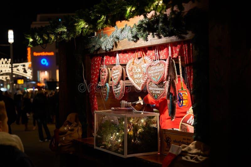 Μελόψωμο στη γερμανική αγορά Χριστουγέννων στοκ εικόνες