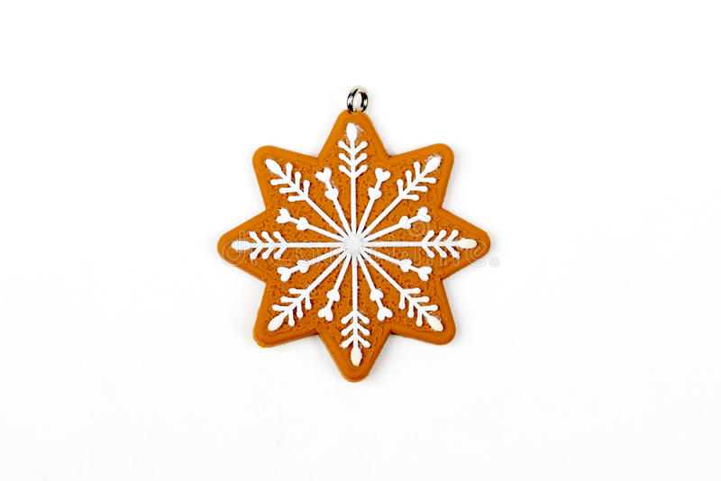 Μελόψωμο star's, snowflake ` s αριθμός, χιόνι Χριστουγεννιάτικο δέντρο, νέο έτος, χειμερινά ντεκόρ στοκ φωτογραφίες με δικαίωμα ελεύθερης χρήσης