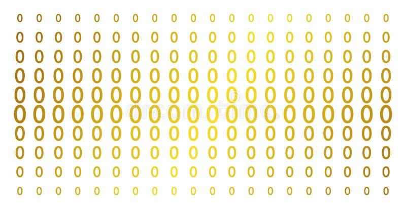 Μηδέν χρυσό ημίτονο σχέδιο ψηφίων ελεύθερη απεικόνιση δικαιώματος