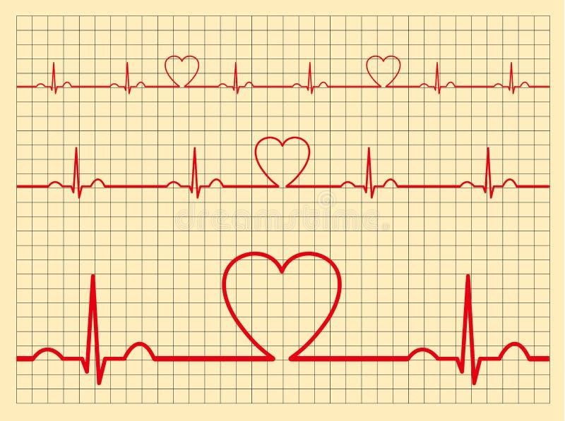 Μηνύτορας-διάνυσμα καρδιών διανυσματική απεικόνιση