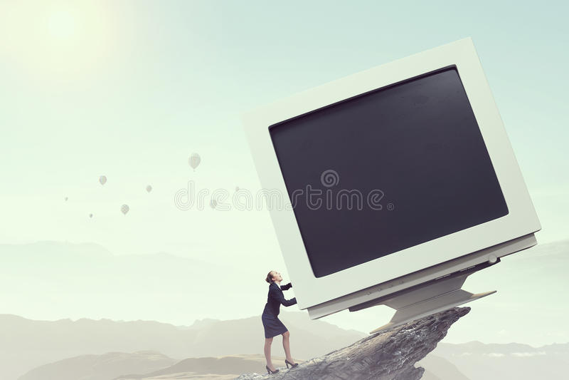 μηνύτορας υπολογιστών πα Μικτά μέσα στοκ φωτογραφίες με δικαίωμα ελεύθερης χρήσης