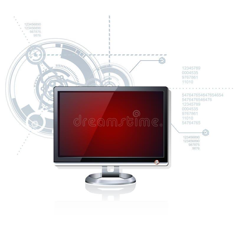 μηνύτορας LCD διανυσματική απεικόνιση