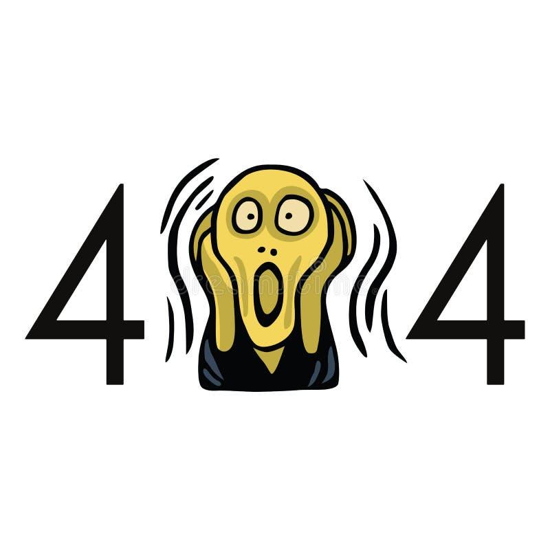 Μην βριαλμένη σελίδων λάθος 404 Πρότυπο σχεδιαγράμματος κραυγής επικεφαλής διανυσματικό ελεύθερη απεικόνιση δικαιώματος