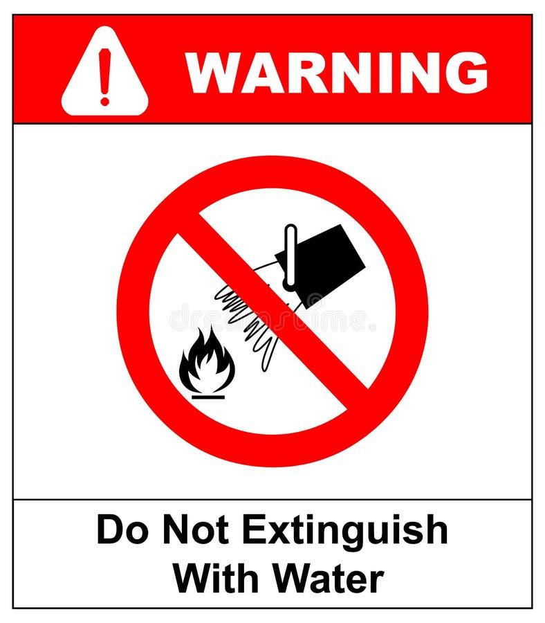 Μην εξαφανίστε με το νερό, σημάδι απαγόρευσης, απεικόνιση απεικόνιση αποθεμάτων