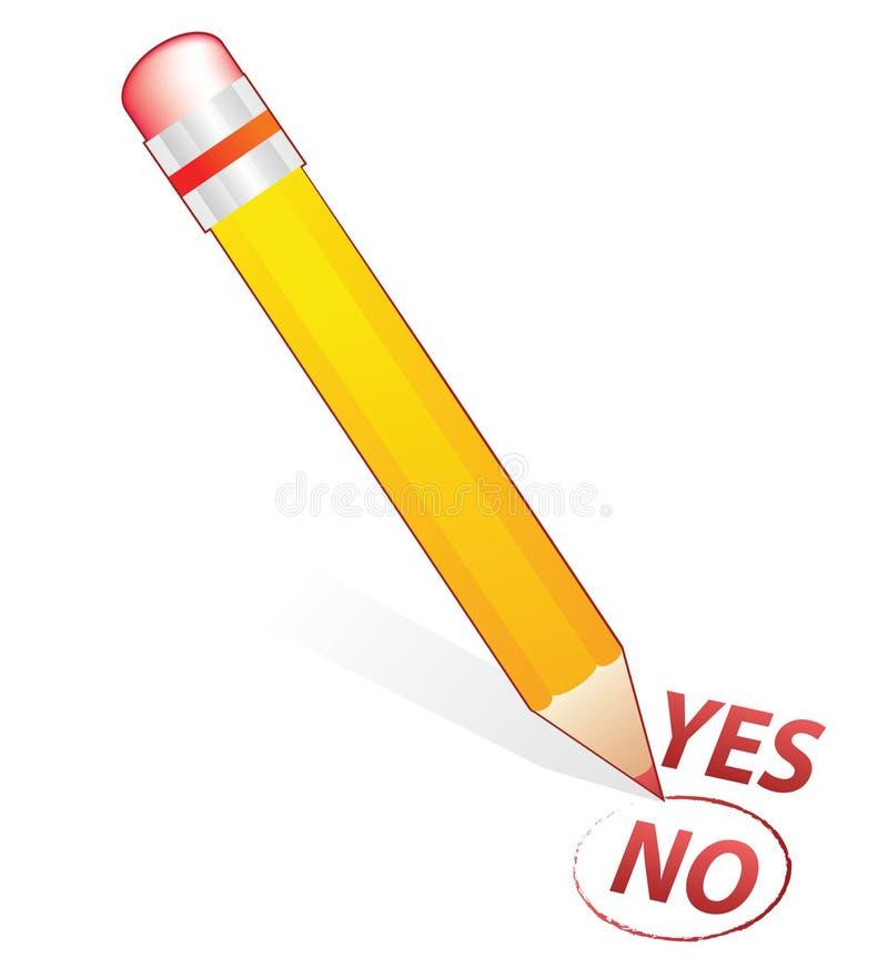 μην επιλέξτε κανένα μολύβι διανυσματική απεικόνιση