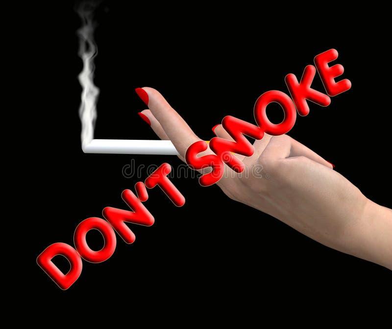 Μην καπνίστε διανυσματική απεικόνιση
