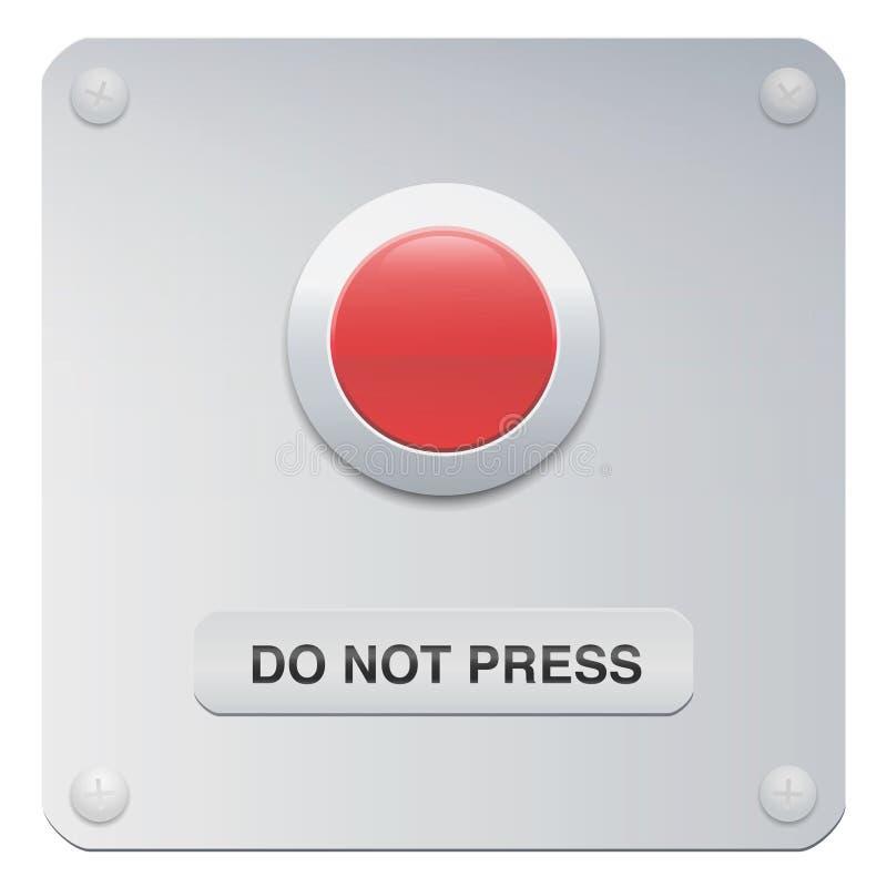 Μην πιέστε το κουμπί όχι κουμπί ώθησης διανυσματική απεικόνιση