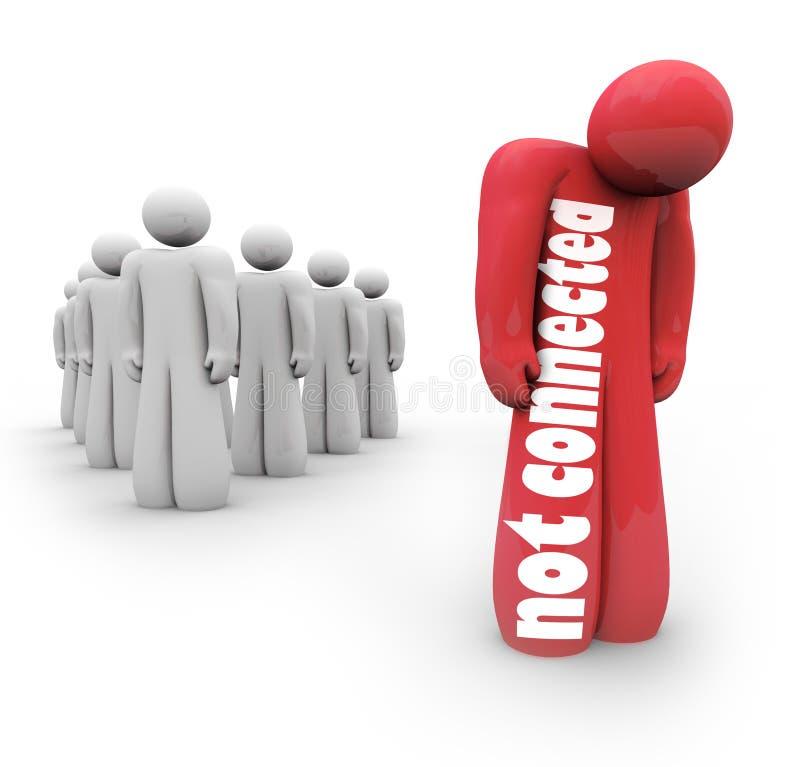 Μην συνδεμένος καμία απομονωμένη δικτύωση αποτυχίας προσώπων συνδέσεων Loner απεικόνιση αποθεμάτων
