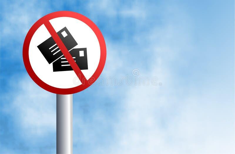 μην ταχυδρομήστε κανένα σ&eta διανυσματική απεικόνιση