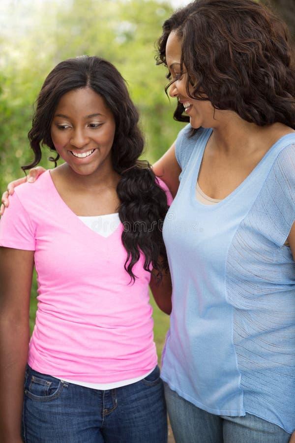 Μητέρα αφροαμερικάνων και το daugher της στοκ φωτογραφία με δικαίωμα ελεύθερης χρήσης