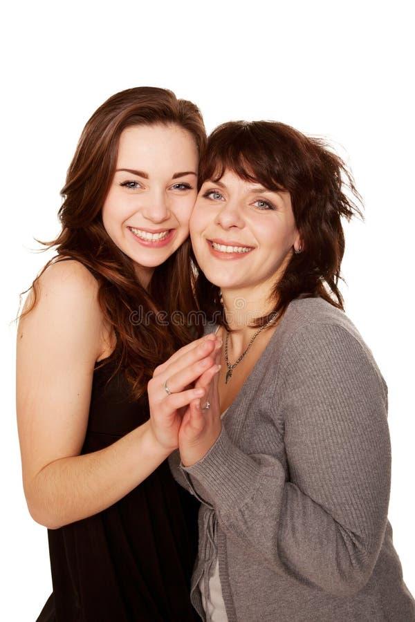 Μητέρα και έφηβη κόρη από κοινού. Ευτυχής οικογένεια. στοκ εικόνα με δικαίωμα ελεύθερης χρήσης