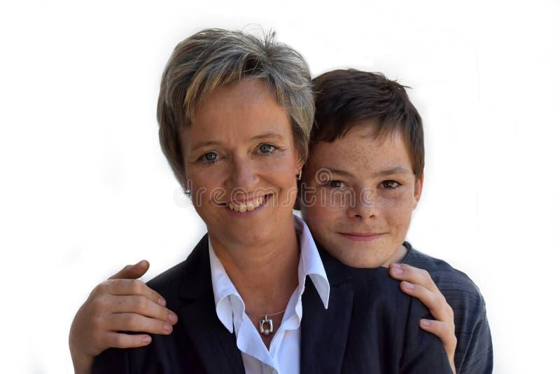 Μητέρα και έφηβος γιος στοκ εικόνα