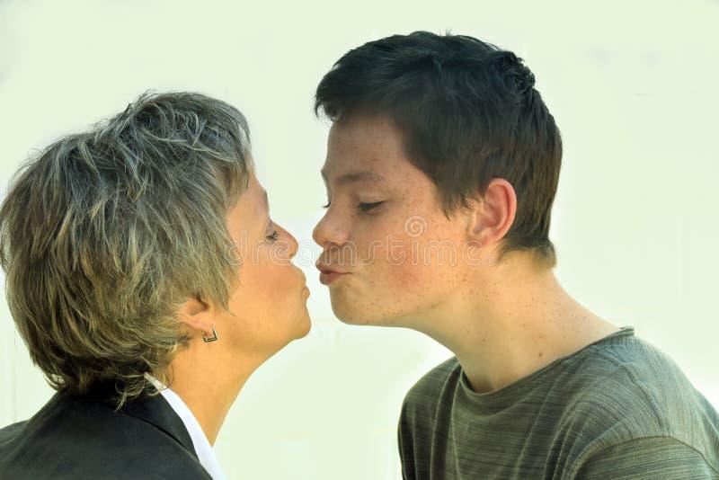 Μητέρα και έφηβος γιος στοκ φωτογραφία