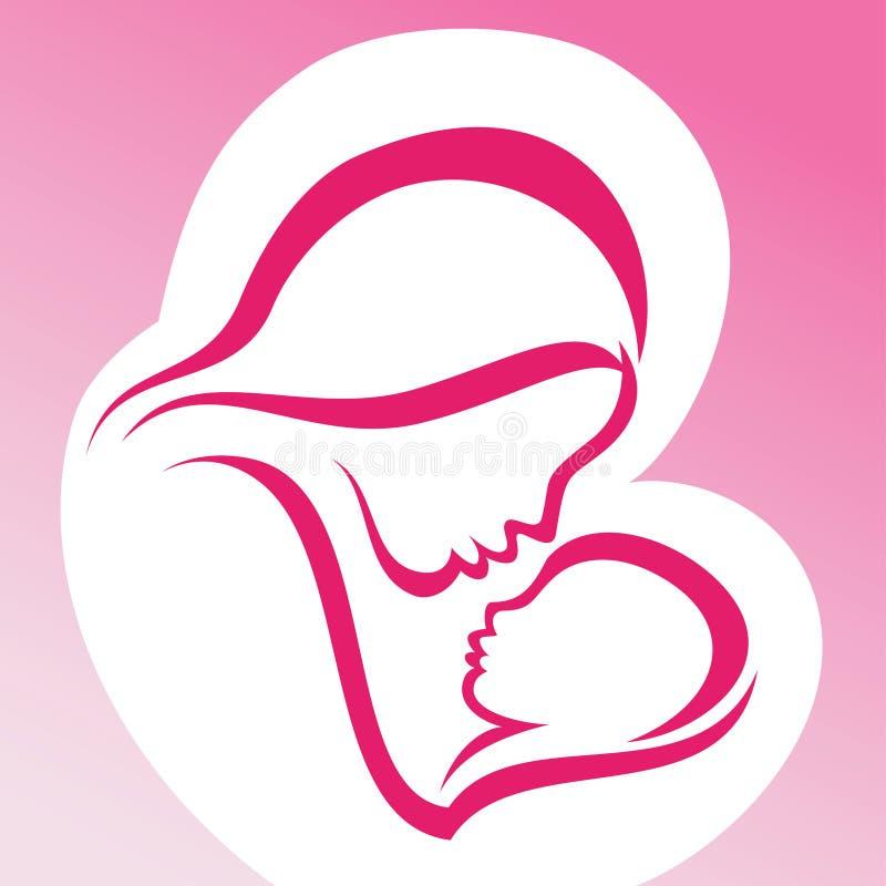 Μητέρα και μωρό διανυσματική απεικόνιση